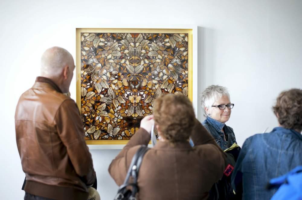 I 2013 stilte kontroversielle Damien Hirst ut maleriet «Soulless». Arkivfoto: Eskild Flydal