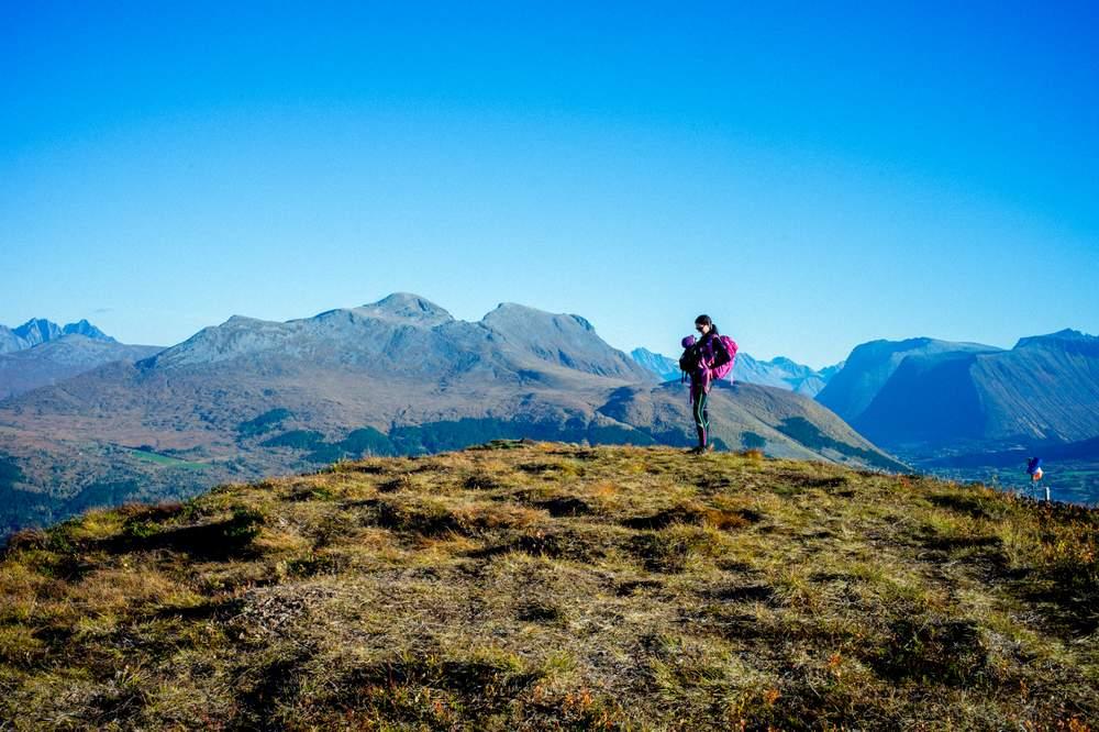 Ma og Bianca på Hestehornet.Foto: Nicolay Woldsdal.