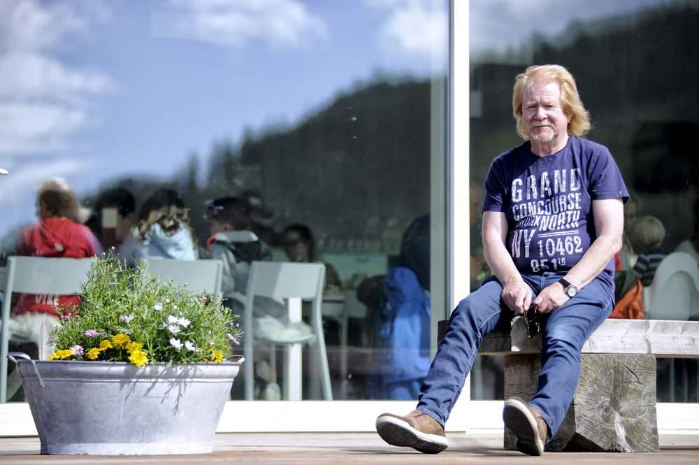 Per Halsebakke i Hakalle Utvikling er ein viktig samtalepartner for Aina Moldskred Krakset og Hakallegarden. Foto: Robert Kvam