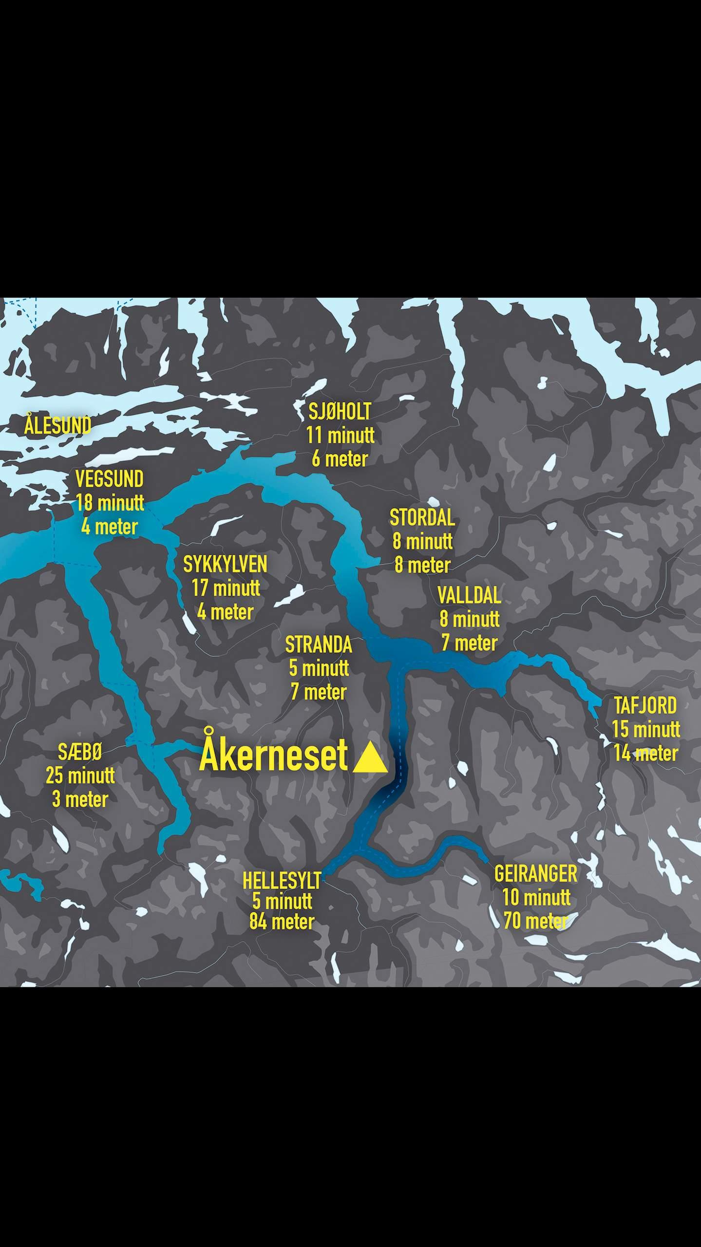 skredfare kart Fjellet som trugar   smp.no/nyheter – Nyheter fra Ålesund  skredfare kart