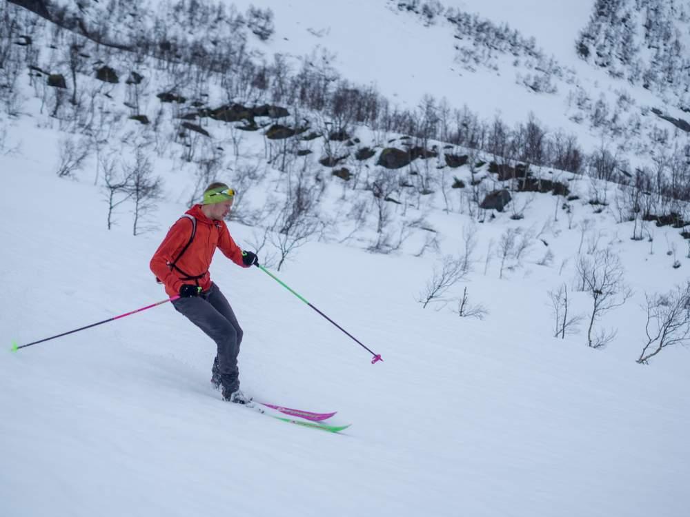 Håvard Myklebust i sitt rette skielement.Foto: Katrine Nordeide Kuiper.