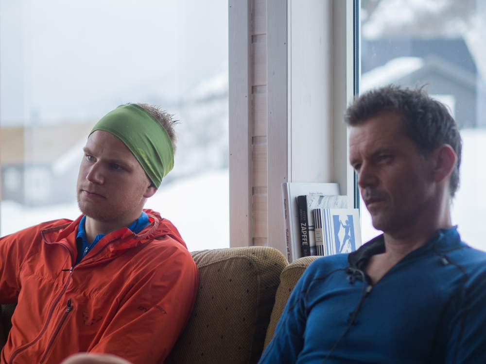 Håvard og Stig forteller om samarbeidet.Foto: Katrine Nordeide Kuiper.