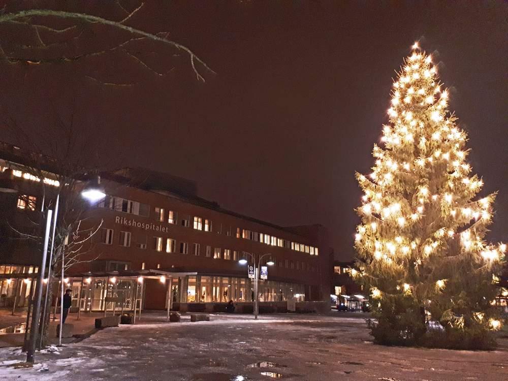 Jul på Rikshospitalet.